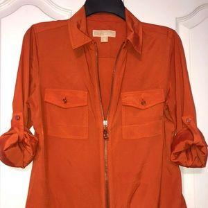 Orange Michael Kors shirt